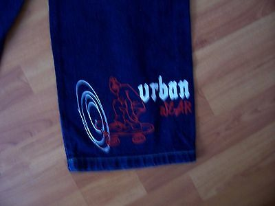 Blue cotton denim jeans from Urban Skatewear, Age 9-10 years 3