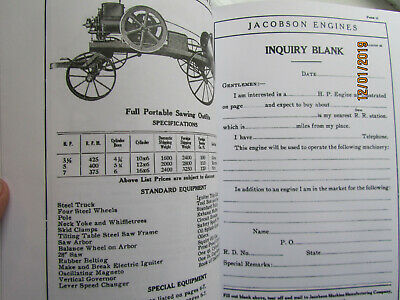 Jacobson Gasoline Engines Catalog, 2 1/2HP to 16HP Gas and Kerosene Types Pics! 3