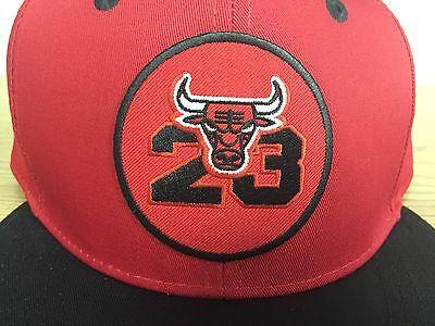 9a14bdfc903 ... NWOT Chicago Bulls Michael Jordan Hat #23 SnapBack Cap Red Black NBA NEW  2