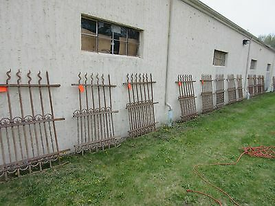 Antique Victorian Iron Gate Window Garden Fence Architectural Salvage Door #310 6