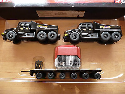 00 SCALE TRACKSIDE 2 X PICKFORDS SCAMMEL CONTRACTOR /& TRAILER WITH LOAD
