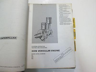 CATERPILLAR 3304 3306 Direct Injection Vehicular Engine 14G Manual BINDER  STAINS
