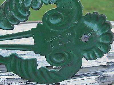 Vintage Fancy Cast Iron Receipt Bill Holder Pin Hook USA Made Unused 6