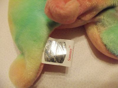 TY Beanie Babies TY DYE RAINBOW BEAR ** SAMMY** 5th Generation New w/ Tag