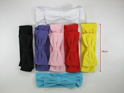 7pc Kids Girl Baby Toddler Infant Flower Bow Ribbon Headband Hair Band Headwear
