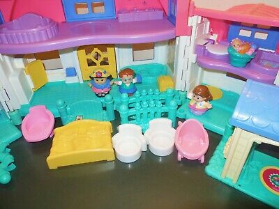 Fisher Price Little People Sweet Sound Dollhouse Cradle Family House Home Lot 8