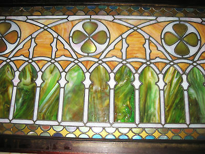 VICTORIAN STAINED GLASS  WINDOW  ca. 1880s 11