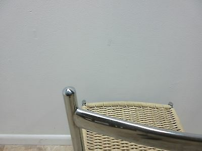 Vintage Mid Century Chrome Italian Ladder Back Dining Side Desk Chair 9