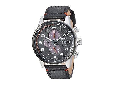 Citizen Eco-Drive Primo Men's Chronograph Black Leather 45mm Watch CA0681-03E 2