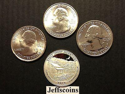 2017 S Park Quarters 225th Enhanced ATB 5 Coins via U.S.Mint Set Box COA Incl. 6