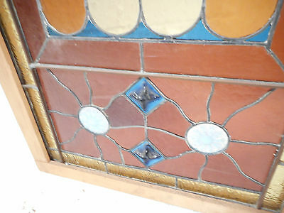 Vintage Stained Glass Window Panel (3068)NJ 5