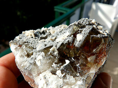 "Minerales"" Fantastico Mineral Fluorescente De Fluorita+Calcita Asturias- 6A15 "" 4"