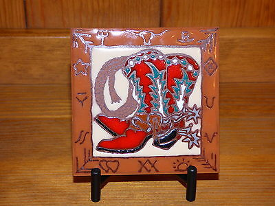 Ceramic Art Tile Plate Coaster Stand Display Holder Heavy Duty Black Metal New 4