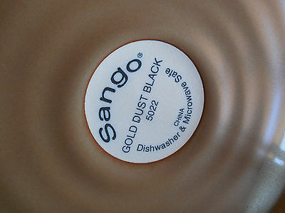 SANGO GOLD DUST BLACK 5022 Set of 5 Salad Plates 8\