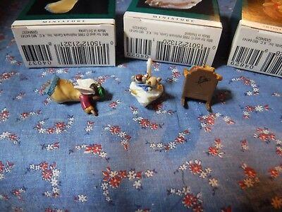 3 Hallmark Keepsake Miniature Ornaments 1995 Tunnel of Love Heavenly Praises Gra