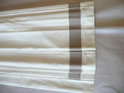 Pottery Barn Grosgrain Ribbon Roman Shade Taupe 26x64 Cordless More Available