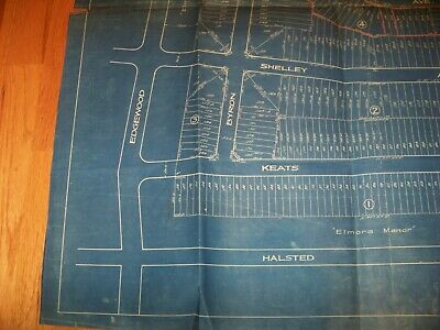 1926 Map Elmora Hills Elizabeth New Jersey Grassman & Kreh Surveyors Engineers 3