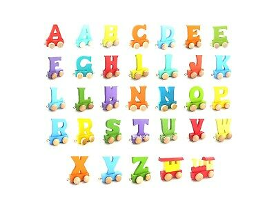 Brand New Wooden Alphabet Personalised Name Train Letters Kids Children Toy Gift 11