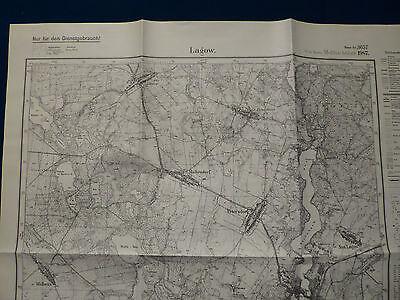 Landkarte Meßtischblatt 3657 Lagow / Łagów, Kreis Oststernberg, Neumark, 1945