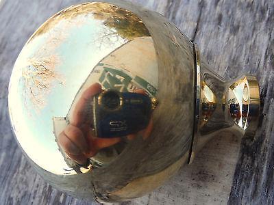 "4 Brass Finials,Balls 1 3/4""  Antique Iron, Brass Bed W/ 3/8"" thread ,hard to fi 2"