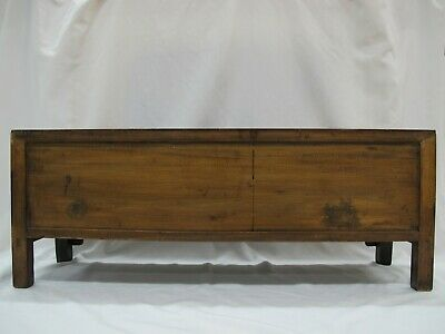 A Chinese Antique Brown Color Wood Kang Low / TV display Table / Stand 39'' Wide 6