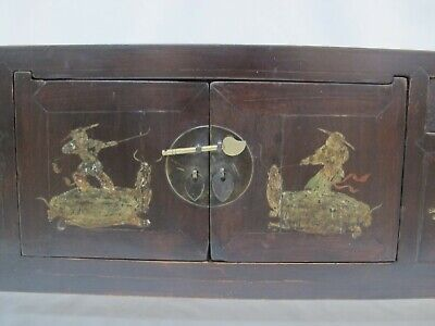 A Chinese Antique Brown Color Wood Kang Low / TV display Table / Stand 39'' Wide 8