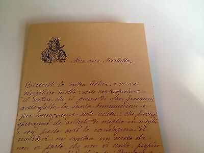 1886 --Meia cara Nicoletta (4 Page signed letter w/Envelope, Napoli, Cento Baci 8