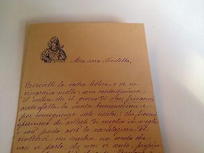 1886 --Meia cara Nicoletta (4 Page signed letter w/Envelope, Napoli, Cento Baci 8