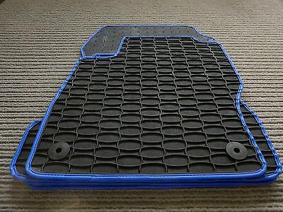 Gummi Lengenfelder Gummimatten für VW T-Roc RAND BLAU Fußmatten NEU