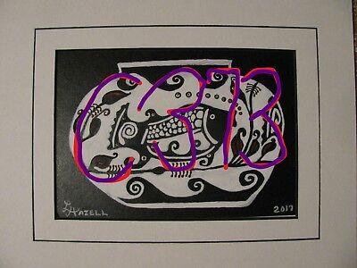 "C394        Original Acrylic Painting By Ljh    ""Purple Haze''      Still Life 10"