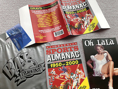 Back to the Future GRAYS SPORTS ALMANAC Movie Prop + receipt/silver bag/Oh Lala