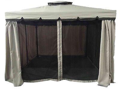 Gazebo 3X4 Giardino In Alluminio Telo Impermeabile Poliestere Pu Con Air Vent 4
