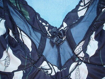 Vintage Valentino 2701 Bustier with Sheer Trim Size 34B in a Calla Lily Print 4