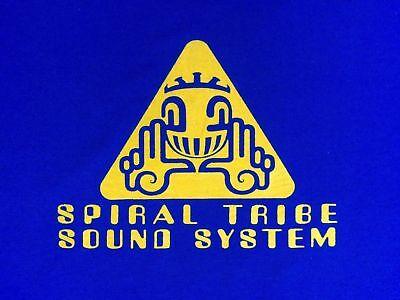 Spiral Tribe Sound System Tshirt Sp Network 23 Crystal Distortion R-Zac Acid