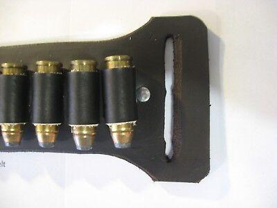Ammo Holder Slide on Belt Leather Cartridge Holder for Belts 1.5 to 2.25 Wide