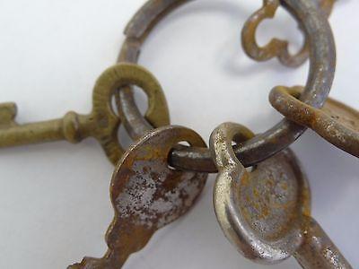 Antique Brass Steel Eagle Lock Co Safe Cabinet Door Lock Keys Used Old Metal 6
