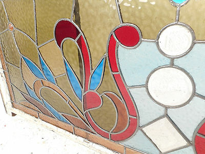 Vintage English Stained Glass Hanging Window (3130)NJ 4