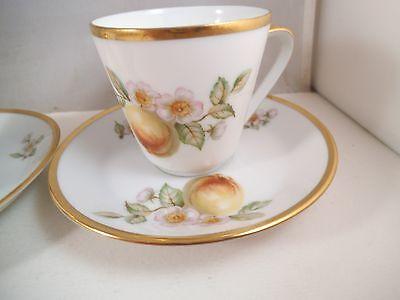 Kaffeetasse Untertasse HUTSCHENREUTHER Noblesse San Remo 50er 6xda Vintage