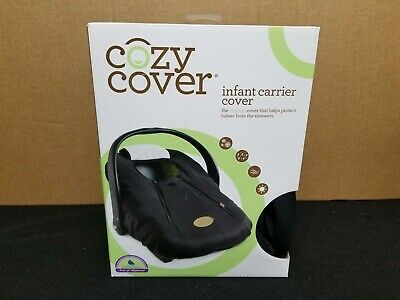 Cozy Cover Infant Carrier Cover - Secure Baby Car Seat Cover - Black 2