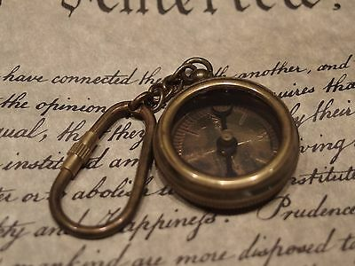 bc7cc5082 ANTIQUE VINTAGE STYLE Solid Brass Compass Keychain - $9.99 | PicClick