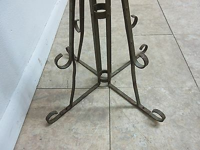Antique Wrought Iron Scroll Flag Pole Music Stand Ceremonial 8