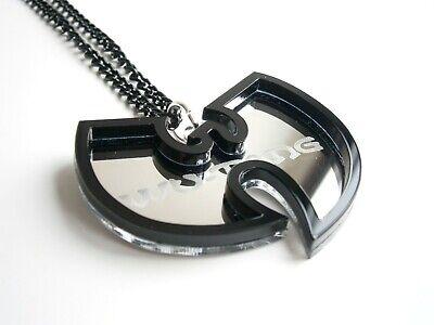Wu Tang Clan Halskette Laser geschnitten gravierten Spiegel Kunststoff 7