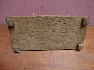 Antique Art Deco Oak Pen Tray/Rest With Ebonised Elephant And Glass Inkwell 8