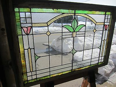 ~ Antique American Stained Glass Window Arts & Crafts ~ Architectural Salvage ~ 8