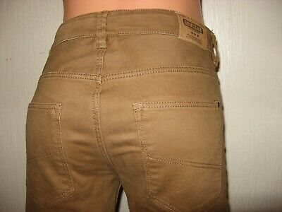 Worn Once Boys H & M Skinny Stretch Caramel Brown Skinny Leg Jeans Age 11-12-13 3