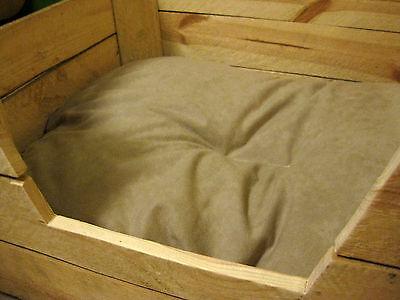KATZENBETT Tierbett Hund Katze Bett Korb Körbchen Kissen OBSTKISTE Holz Kiste 4