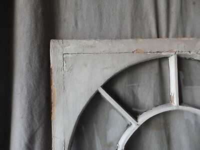 Antique Palladian Window Dome 7 Lite Arch Top Cabinet Shabby Chic 40X34 70-17P 2