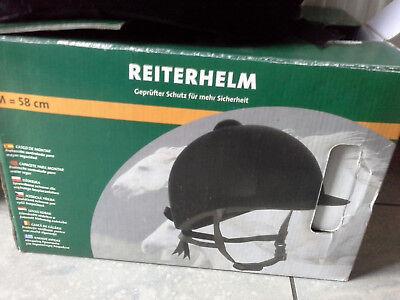 Reiterhelm schwarz Gr.58 **TOP** in OVP