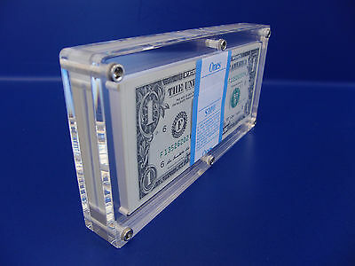 10 unit Acrylic BEP pack 100 Bank Note Currency Display Dollar Case Frame Holder