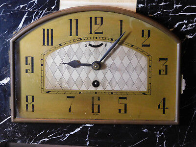 French Art Deco c1930's UCRA Marble Mantle Clock w/Garnitures 4